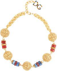 Dolce & Gabbana - Charm Embellished Necklace - Lyst