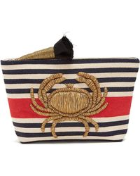 Sanayi 313 - Granceola Embroidered Stripe Pouch - Lyst
