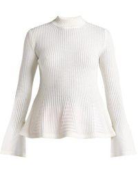 Mary Katrantzou - Casso High-neck Wool Sweater - Lyst