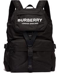 Burberry - Logo Print Nylon Backpack - Lyst
