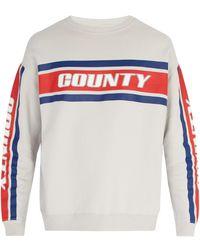Marcelo Burlon - Striped Cotton Sweatshirt - Lyst