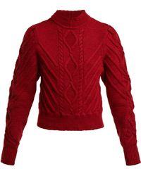 Isabel Marant - Brantley Aran Knit Cotton Sweater - Lyst