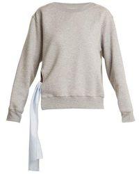 Stella McCartney - Tie-side Cotton-blend Sweatshirt - Lyst