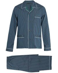 Prada - Striped Cotton Pyjama Set - Lyst