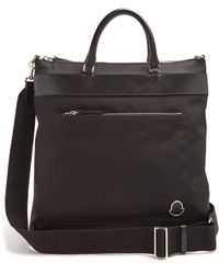 Moncler - Leather Trimmed Tote - Lyst