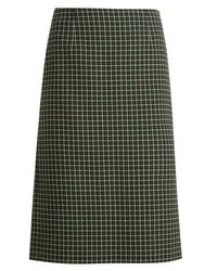 Mary Katrantzou - Storm Checked Hound's-tooth Wool-blend Skirt - Lyst