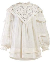 ea047e4f062 Isabel Marant - Ghalia Lace Panel Mini Dress - Lyst