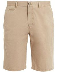 Altea - Straight Leg Gabardine Shorts - Lyst