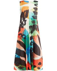 Pleats Please Issey Miyake - Laughing Rope Plissé A Line Midi Dress - Lyst