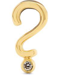 Alison Lou - Diamond & Yellow-gold Question Mark Earring - Lyst