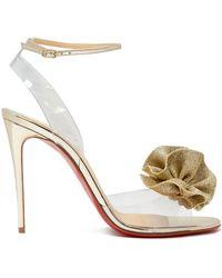 9c2ac8a831f4 Christian Louboutin - Fossiliza 100 Flower Embellished Sandals - Lyst
