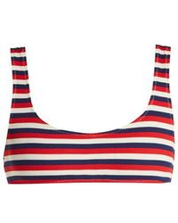 Solid & Striped - The Elle Ribbed Bikini Top - Lyst