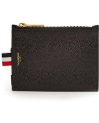 Thom Browne - Grained-leather Zip Wallet - Lyst