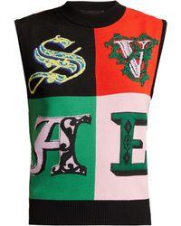 Versace - Pull sans manches à imprimé Alphabet - Lyst