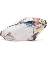 Marques'Almeida - Poster Print Leather Belt Bag - Lyst