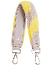 Fendi | Strap You Mini Striped Fur Bag Strap | Lyst