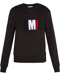 AMI - Logo Appliqué Cotton Sweatshirt - Lyst