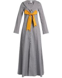 Rosie Assoulin - Seeker Detachable-bow Gingham Coat - Lyst