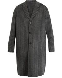 Acne Studios - Chad Pinstriped Wool-cashmere Blend Coat - Lyst