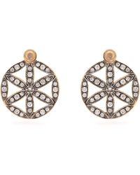 Noor Fares - Diamond, Moonstone & Yellow Gold Earrings - Lyst