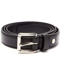 AMI - Thin Leather Belt - Lyst