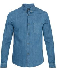 A.P.C. - Serges Denim Shirt - Lyst
