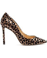 Jimmy Choo - Romy 100 Leopard-print Velvet Heels - Lyst