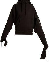 Vetements - Sweat-shirt à capuche à bandes - Lyst