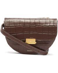 Wandler - Anna Crocodile Effect Leather Belt Bag - Lyst