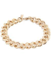 A.P.C.   Gourmette Jill Curb-chain Silver Bracelet   Lyst