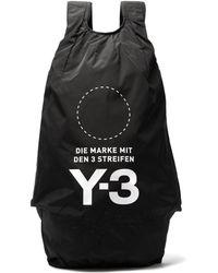Y-3 - Yohji Signature Logo Print Backpack - Lyst