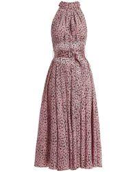 Diane von Furstenberg - High Neck Silk Dress - Lyst