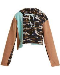 Natasha Zinko - Sweat-shirt à capuche en coton imprimé camouflage - Lyst