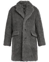 Prada - Faux Shearling Coat - Lyst
