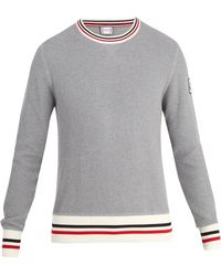 Moncler Gamme Bleu - Striped Cotton Sweater - Lyst