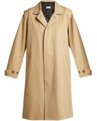 Chimala - Single Breasted Cotton Twill Trench Coat - Lyst
