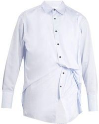 Wooyoungmi - Gathered Double Layered Cotton Shirt - Lyst
