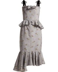 Brock Collection - Dylan Ruffled Cotton-blend Dress - Lyst