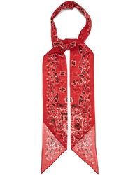 Saint Laurent - Paisley Print Wool Bandana - Lyst