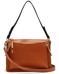 Chloé - Roy Medium Suede And Leather Shoulder Bag - Lyst