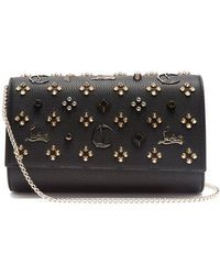 Christian Louboutin - Paloma Embellished Leather Clutch - Lyst