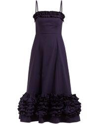 Molly Black Taffeta Lyst Goddard Gabby Dress In 6IY7bfgyv