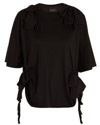 Simone Rocha - Bow-tied Crew-neck T-shirt - Lyst