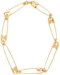 Balenciaga - Safety-pin Necklace - Lyst