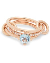 Spinelli Kilcollin - Astral Aquamarine, Diamond & Rose-gold Ring - Lyst