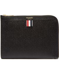 d9e1fb5333 Reiss Eldridge Pebbled Leather Wash Bag in Gray for Men - Lyst