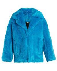 Diane von Furstenberg - Oversized Faux-fur Jacket - Lyst