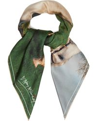 Mary McCartney - White Stallion Print Silk Scarf - Lyst