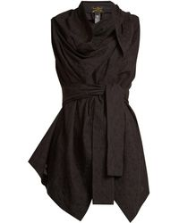 Vivienne Westwood Anglomania - Square-neck Tie-waist Broderie-anglaise Top - Lyst