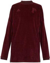 adidas Originals - Long Sleeve Velvet Sweater - Lyst